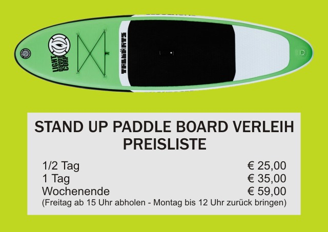 SUP Verleih Stand Up Paddel Board Verleih Preisliste talwaerts Talwärts Boardsportshop SUP Verkauf Zwiesel Bayern Bayerischer Wald